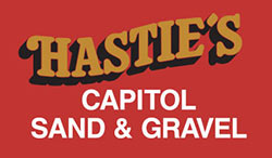 Hastie's Capitol Sand and Gravel – Rock, Topsoil and Bark Logo